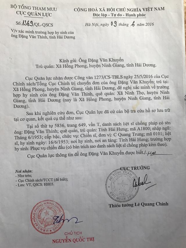 Chiến sĩ hy sinh hơn 60 năm chưa được công nhận liệt sĩ: Kết luận của Cục Quân lực bị bỏ qua? - 4