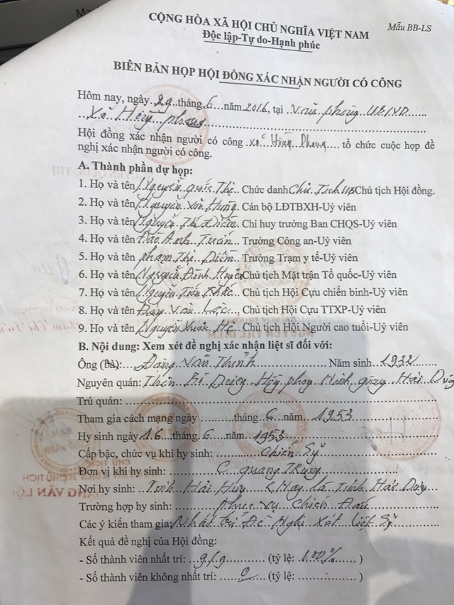 Chiến sĩ hy sinh hơn 60 năm chưa được công nhận liệt sĩ: Kết luận của Cục Quân lực bị bỏ qua? - 1