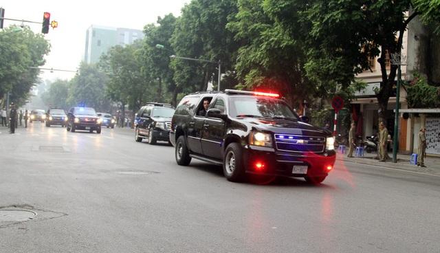Đoàn hộ tống xe của Tổng thống Donald Trump.