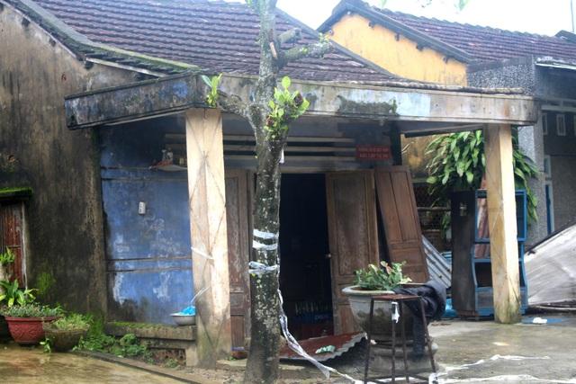 Ngôi nhà nơi phát hiện bà Ph. chết trong thế treo cổ.