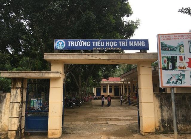 Điểm lẻ Khu Giàng, Trường Tiểu học Trí Nang - nơi cô Thơ công tác