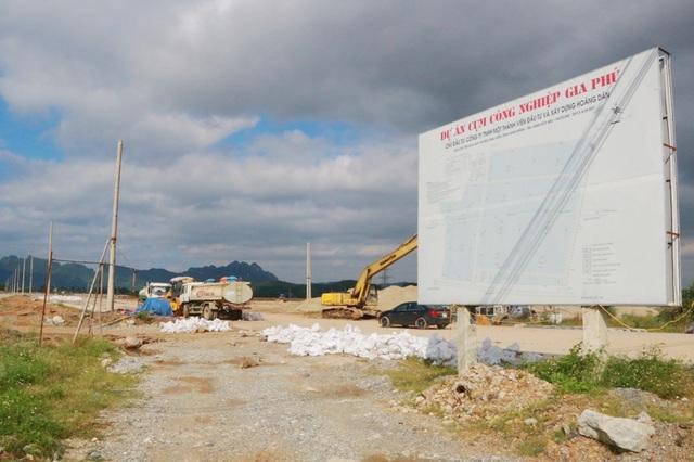 Cụm công nghiệp Gia Phú do Công ty Hoàng Dân làm chủ đầu tư, xây dựng khi chưa có Báo cáo đánh giá tác động môi trường được thẩm định, phê duyệt.