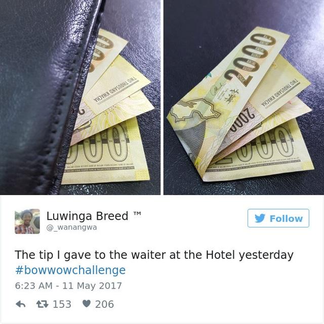 Tiền tip cho lễ tân khách sạn hôm nay.