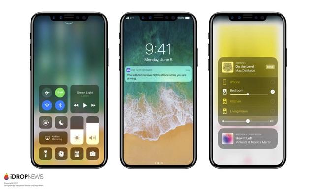 Một bản concept của iPhone 8 dựa trên các tin đồn.