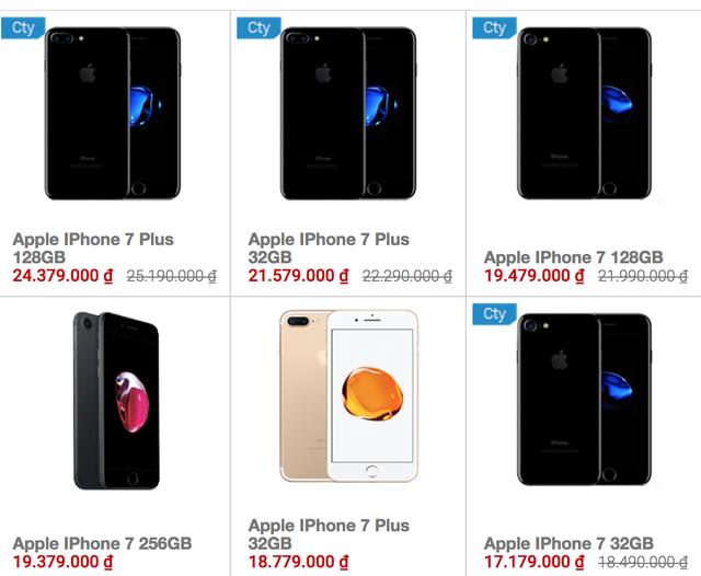 Giá iPhone chính hãng của một số chuỗi bán lẻ nhỏ