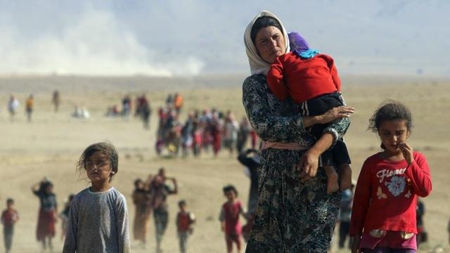 Người tị nạn Yazidi sơ tán ở phía bắc Iraq (Ảnh: Reuters)