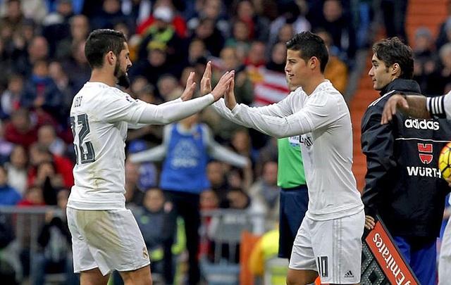 James Rodriguez, Isco, những gương mặt dự bị bằng vàng của Real Madrid