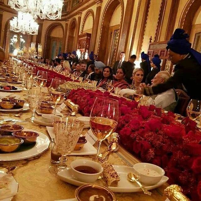 Dạ tiệc đặc biệt do Thủ tướng Modi chủ trì. (Ảnh: NDTV)
