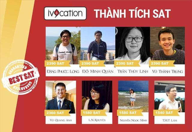 Bảng vàng thành tích SAT của Ivycation