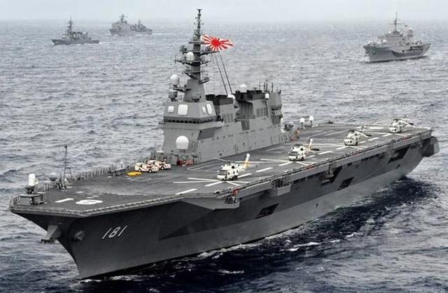 Tàu sân bay trực thăng Izumo của Hải quân Nhật Bản. (Ảnh: Reuters)