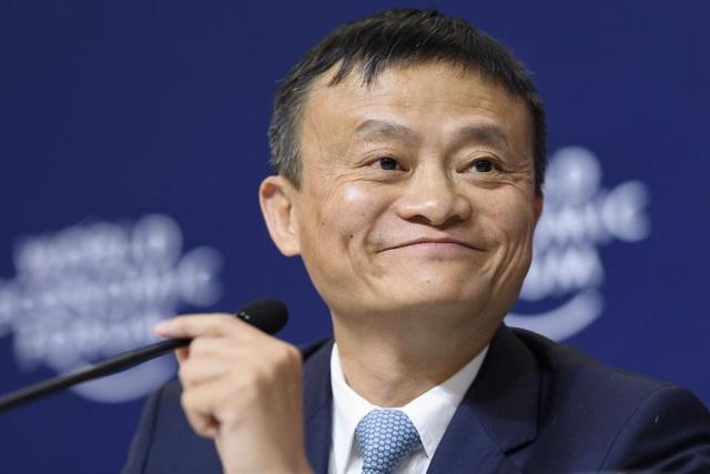 Tỷ phú Jack Ma, người sáng lập Tập đoàn Alibaba và Chủ tịch điều hành tại cuộc họp ở Davos, Thụy Sĩ. (Nguồn: Fabrice Coffrini / AFP / Getty Images)