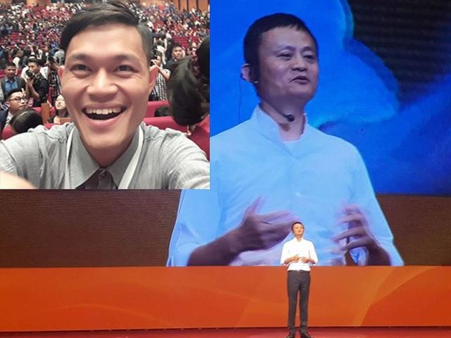 Đức Minh rất phấn khích khi được tham gia buổi giao lưu cùng tỷ phú Jack Ma