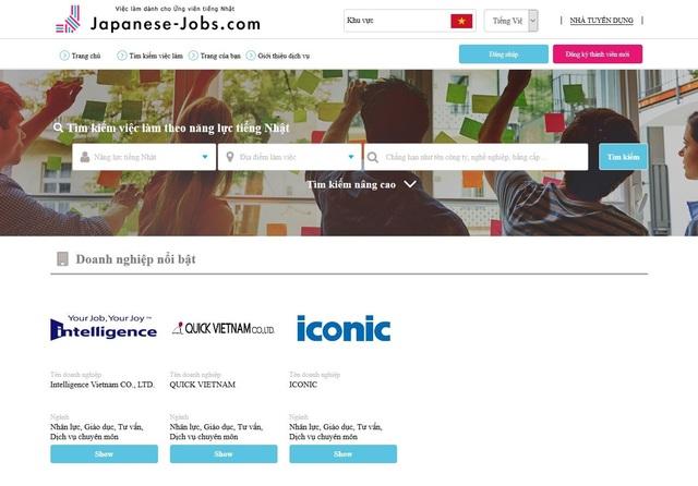 Ra mắt website dành cho ứng viên biết tiếng Nhật - 1