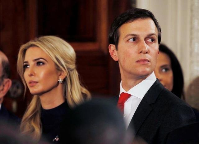 Con gái Tổng thống Donald Trump và con rể Jared Kushner (phải). (Ảnh: Reuters)