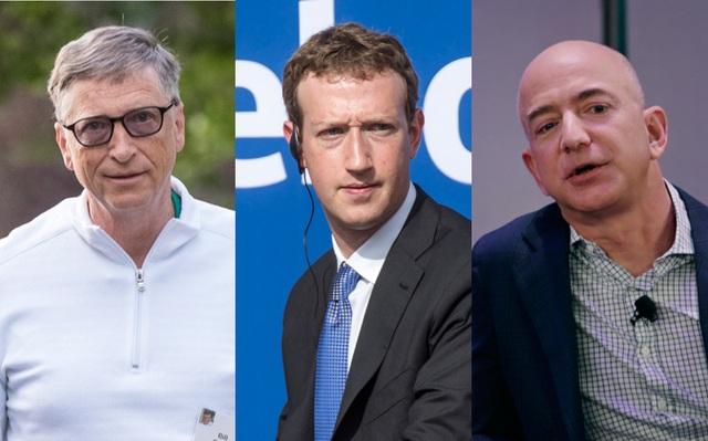 Tỷ phú Bezos là người mất nhiều tiền nhất, sau đó là tỷ phú Mark Zuckerberg và Bill Gates.