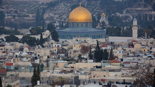 Núi Đền - một địa điểm linh thiêng tại Jerusalem (Ảnh: NYT)