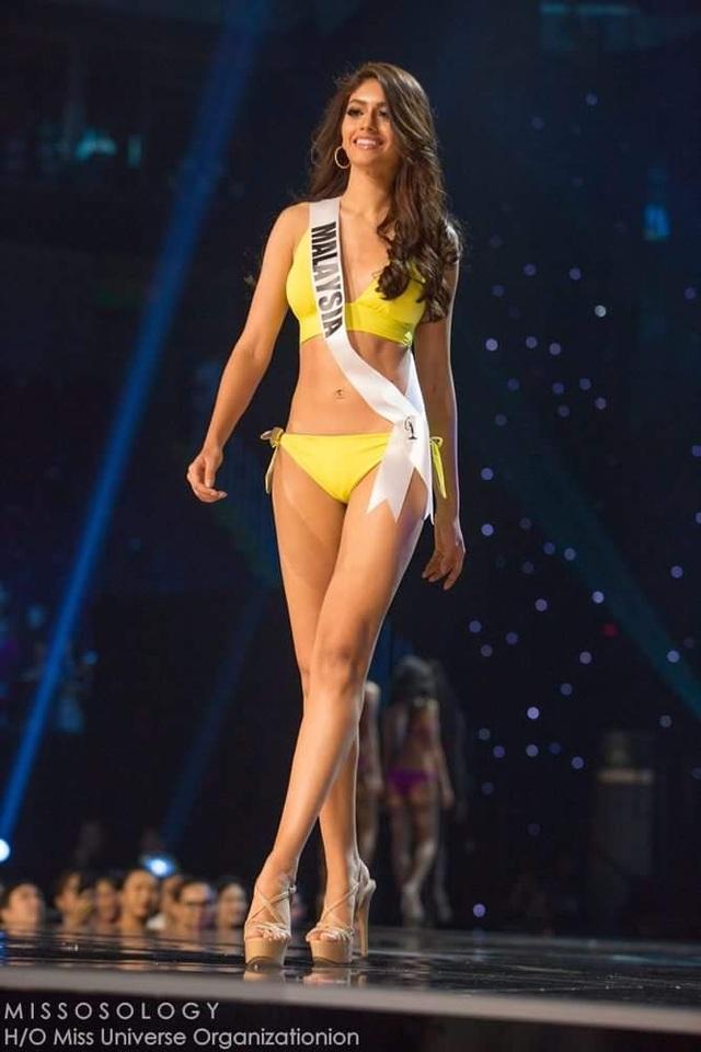 Lệ Hằng và thí sinh hoa hậu hoàn vũ bốc lửa trong đêm bán kết - 36