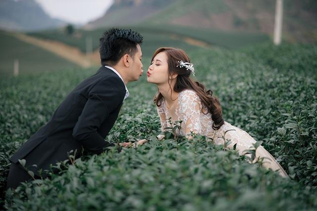 Ảnh cưới trên đồi chè Mộc Châu
