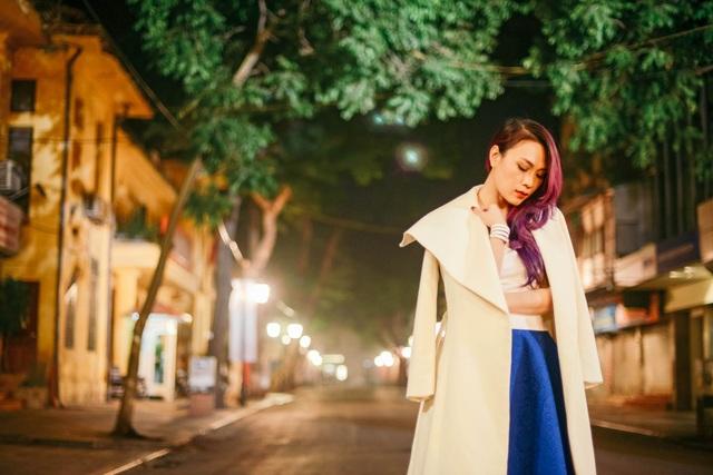 Mỹ Tâm yêu kiều trên phố cổ Hà Nội giữa đêm lạnh - 6
