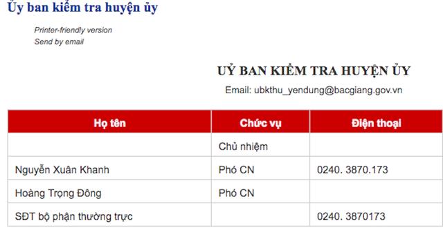 Chức danh Chủ nhiệm UBKT huyện uỷ hiện chưa được cập nhật trên trang thông tin điện tử huyện Yên Dũng.