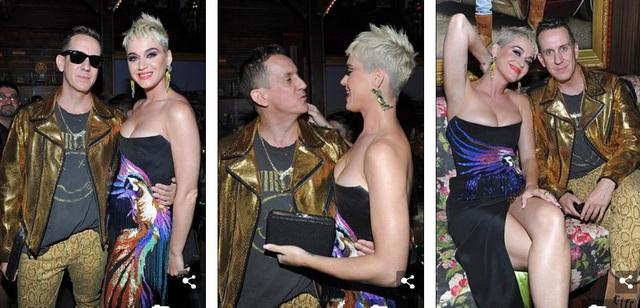 Katy vui vẻ hội ngộ bạn bè trong buổi tiệc tối này