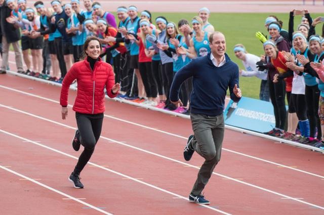 Hoàng tử William và Công nương Kate chạy đua tại một sự kiện của tổ chức từ thiện ở Anh (Ảnh: People)