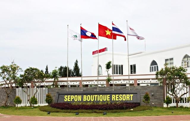 Khu nghỉ dưỡng được đầu tư xây dựng khang trang tại biển Cửa Việt, là điểm đến lý tưởng cho du khách