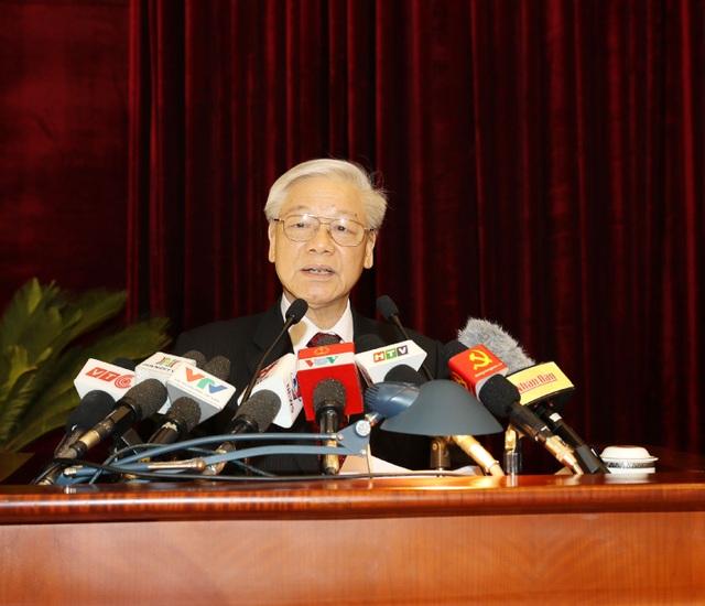 Tổng Bí thư Nguyễn Phú Trọng phát biểu khai mạc Hội nghị. (Ảnh: Trí Dũng –TTXVN)