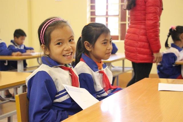 Nụ cười của học sinh Trường Tiểu học Nga My I.