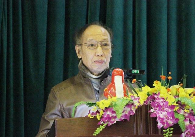 Nhà báo Phạm Huy Hoàn phát biểu tại Lễ khánh thành.