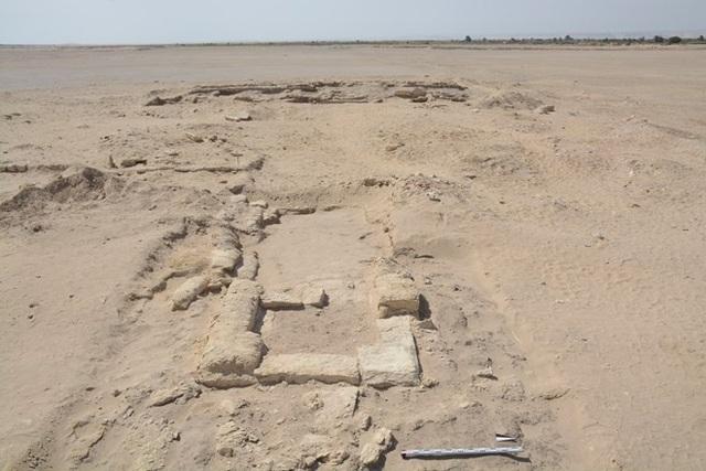 Dấu tích khảo cổ khu vực hiện trường phát hiện phòng tập gym cổ đại tại Watfa.