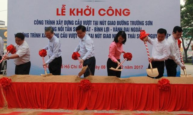 Bí thư Đinh La Thăng dự lễ khởi công 2 công trình quan trọng giải cứu kẹt xe sân bay Tân Sơn Nhất