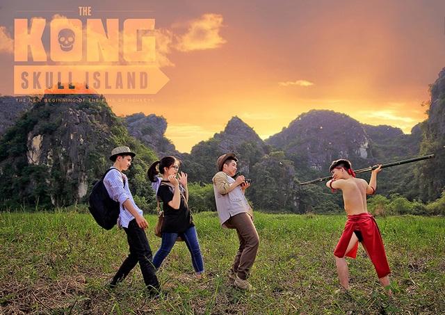 """Ảnh kỷ yếu """"ăn theo"""" phim Kong hoành tráng của học sinh Ninh Bình - 12"""
