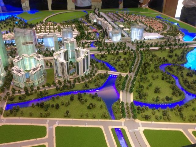 Dự kiến, gần 10ha đất thuộc khu chức năng số 3,4 khu đô thị mới Thủ Thiêm được dùng để cân đối thanh toán chi phí xây dựng cầu Thủ Thiêm 4 (Trong ảnh: phối cảnh khu đô thị mới Thủ Thiêm)