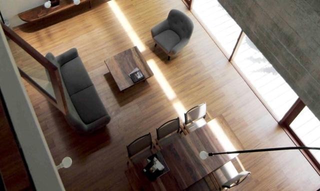 Phòng ăn nằm cùng không gian chung với phòng khách.