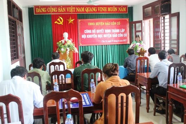 Bà Nguyễn Thị Hồng Vân, Chủ tịch Hội Khuyến học Quảng Trị khái quát về quá trình xây dựng phong trào khuyến học, khuyến tài trên địa bàn tỉnh
