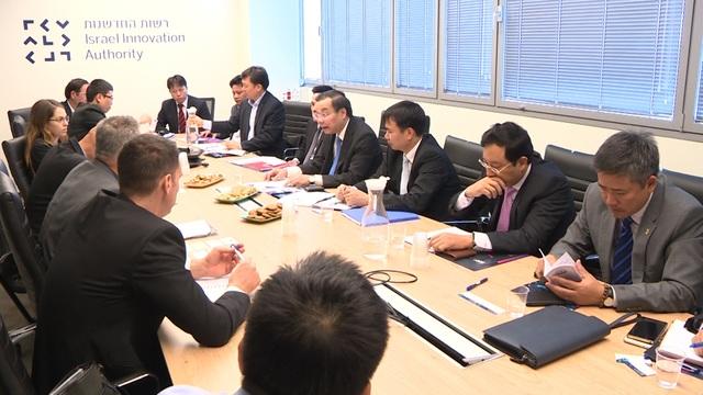 Bộ trưởng Chu Ngọc Anh làm việc với các đối tác ở Israel.