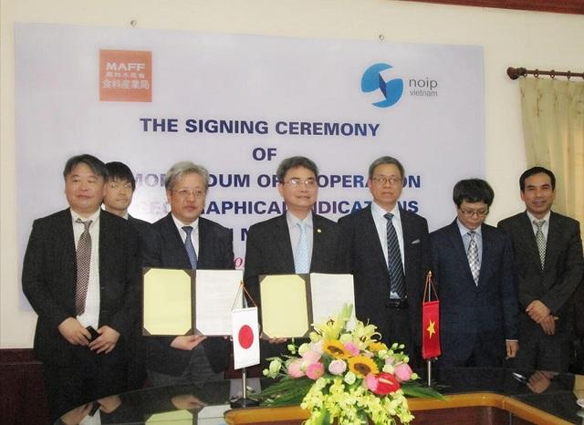Việt Nam và Nhật Bản ký ghi nhớ hợp tác về chỉ dẫn địa lý.