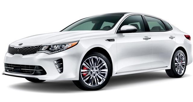 Sedan cỡ trung: Kia Optima - Mẫu xe này được Consumer Reports đánh giá là xuất sắc hơn Honda Accord và Toyota Camry trong phân khúc sedan cỡ trung, do được trang bị nhiều tính năng thường chỉ có ở các mẫu xe cao cấp hơn. Độ tin cậy và chính sách bảo hành cũng là điểm cộng của Optima tại thị trường Mỹ.