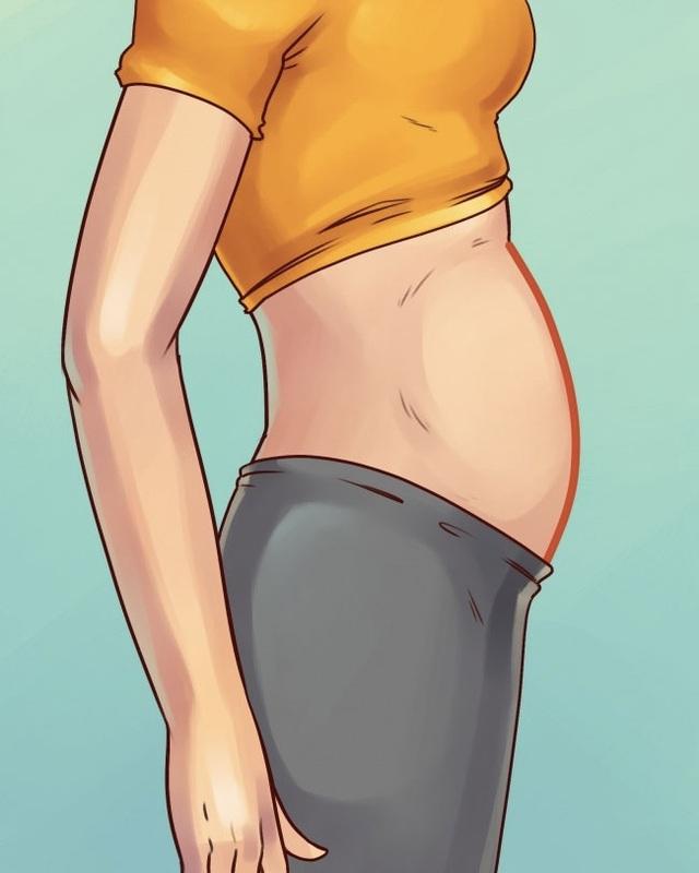 5 kiểu béo bụng không liên quan với tăng cân - 2