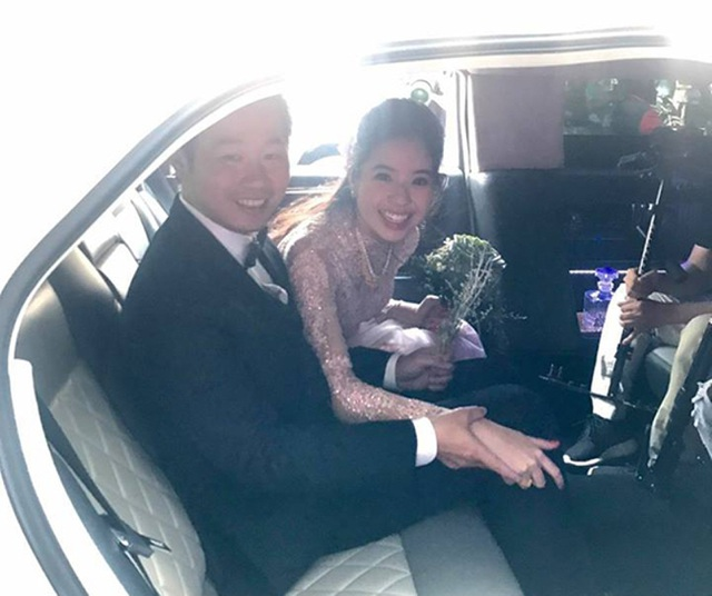 Á hậu Kiều Khanh và vị hôn phu.