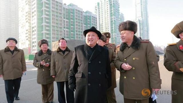 Nhà lãnh đạo Triều Tiên Kim Jong-un tại lễ khánh thành. (Ảnh: Reuters)