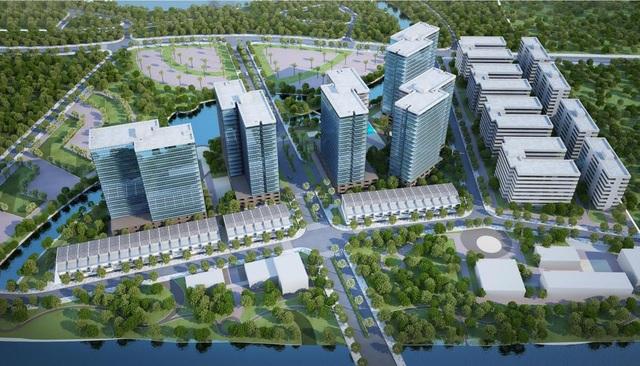 Phối cảnh khu đô thị Mizuki Park quy mô 26 ha thiết kế theo mô hình thành phố tiện ích mang phong cách nghỉ dưỡng của chủ đầu tư Nam Long