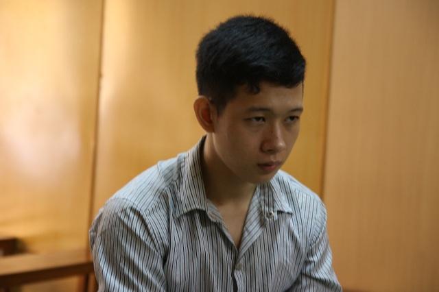 Bị cáo Hồ tại phiên tòa.
