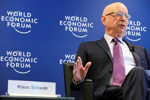 Chủ tịch Điều hành WEF Klaus Schwab tại WEF 2017 (Ảnh: Reuters)