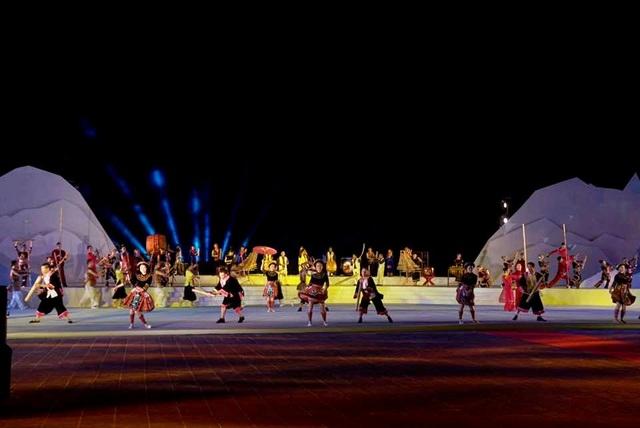 Các tiết mục văn nghệ tại lễ khai mạc Festival Di sản Quảng Nam lần thứ VI 2017