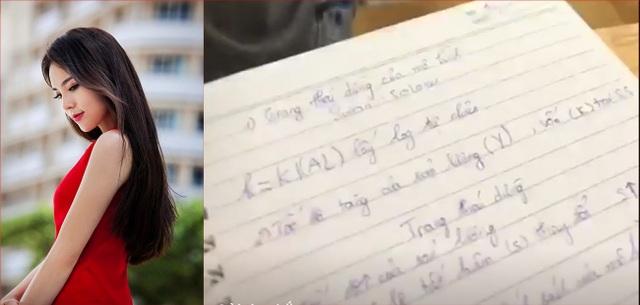 Mới đây Hoa hậu Kỳ Duyên chia sẻ những hình ảnh trên giảng đường đại học của cô. Người đẹp cũng chăm chú ghi bài và nét chữ của cô được đánh giá là dễ đọc.