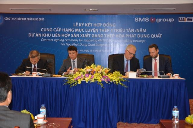 Ký kết hợp đồng thiết bị luyện thép cho dự án tại Dung Quất - 1