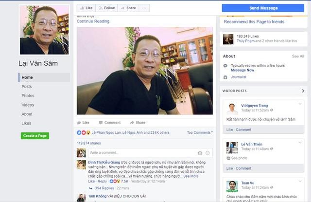 Cảnh giác: Toàn bộ tài khoản Facebook của Lại Văn Sâm là giả mạo - 1