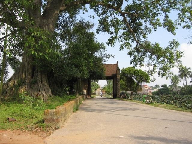Khắp mọi ngõ ngách, nẻo đường của làng Đường Lâm đều mang đến cảm giác yên bình.